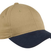 Two Tone Brushed Twill Cap